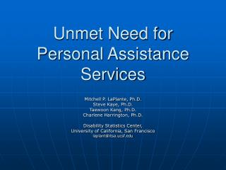 unmet need for personal assistance services