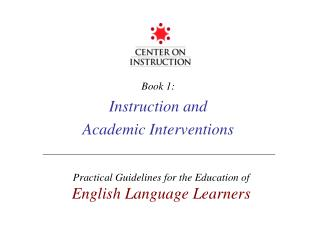 Book 1: Instruction and Academic Interventions