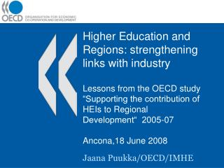 Higher Education and Regions: strengthening links with industry