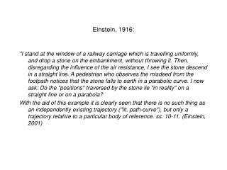 Einstein, 1916: