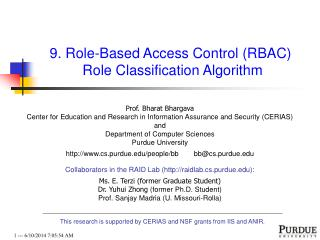 9. Role-Based Access Control RBAC  Role Classification Algorithm