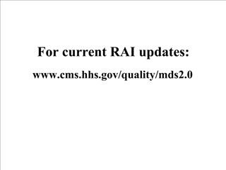 for current rai updates: