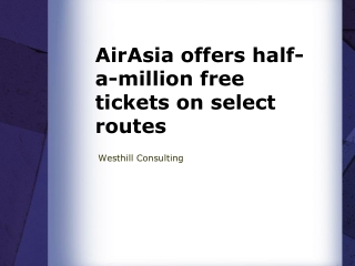 AirAsia offers half-a-million free tickets on select routes