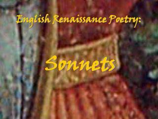 English Renaissance Poetry:
