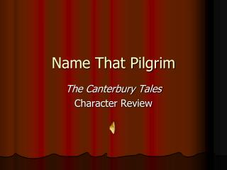 Name That Pilgrim