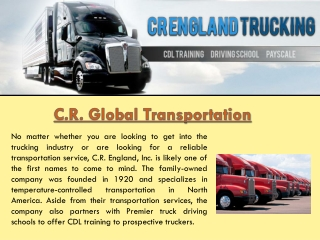 CR England Trucking