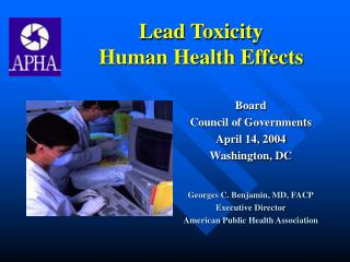 Lead Toxicity  Human Health Effects