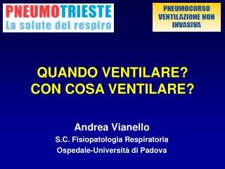 Andrea Vianello S.C. Fisiopatologia Respiratoria Ospedale-Universit  di Padova
