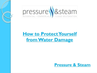 Protect Yourself from Water Damage