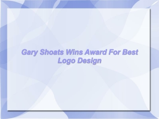 Gary Shoats Wins Award For Best Logo Design