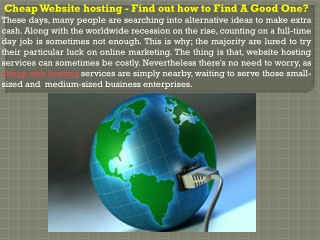 Cheap Website hosting - Find out how to Find A Good One