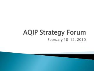 AQIP Strategy Forum