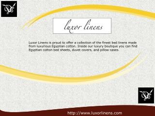Luxury Cotton Bed Linens - LuxorLinens.com