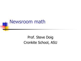 Newsroom math