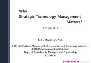 Why  Strategic Technology Management Matters