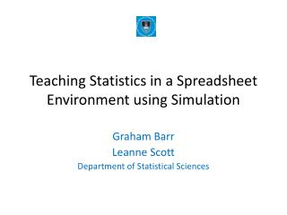 Teaching Statistics in a Spreadsheet Environment using Simulation