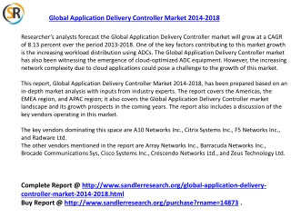 Global Application Delivery Controller Market 2018 Forecast