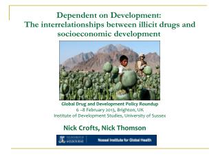 Dependent on Development:  The interrelationships between illicit drugs and socioeconomic development