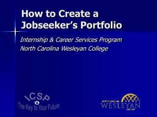 How to Create a  Jobseeker s Portfolio