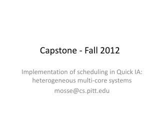 Capstone - Fall 2012