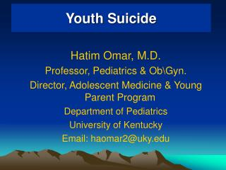 Youth Suicide