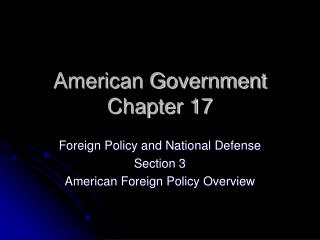 American Government Chapter 17