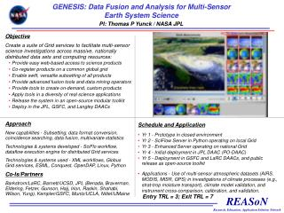 GENESIS: Data Fusion and Analysis for Multi-Sensor Earth System Science