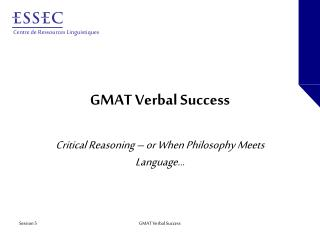 GMAT Verbal Success