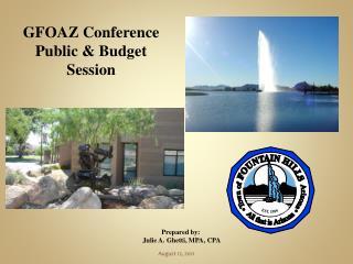 GFOAZ Conference Public  Budget Session