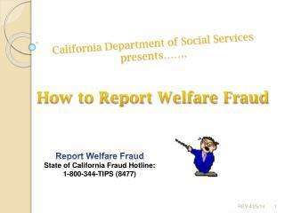 California Department of Social Services presents  .