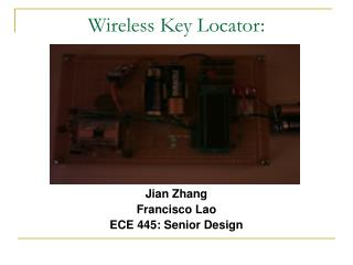 Wireless Key Locator: