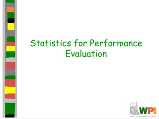 Statistics for Performance Evaluation