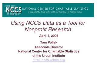 using nccs data as a tool for nonprofit research