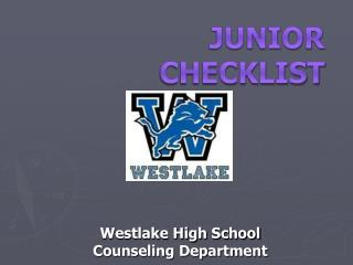 JUNIOR  Checklist