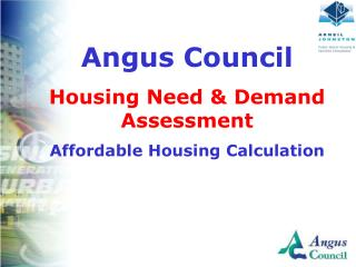 Angus Council  Housing Need  Demand Assessment Affordable Housing Calculation