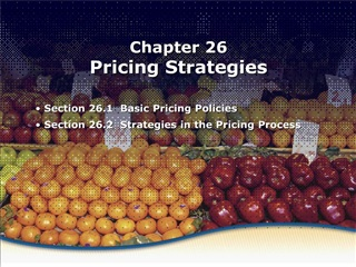 basic pricing policies