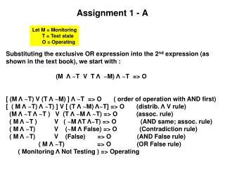Assignment 1 - A