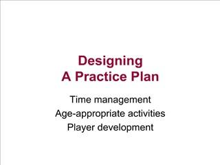 designing  a practice plan