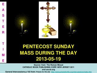 PENTECOST SUNDAY MASS DURING THE DAY  2013-05-19