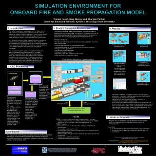 Simulation Environment for  Onboard Fire and Smoke Propagation Model