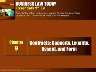 Contracts: Capacity, Legality, Assent, and Form