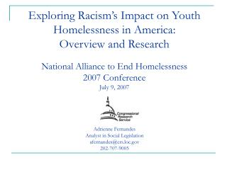 Exploring Racism s Impact on Youth Homelessness in America: Overview and Research  National Alliance to End Homelessness