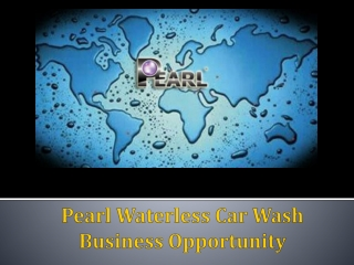Pearl Waterless Car Wash Business Opportunity