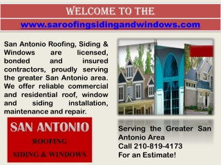 Remodeling Contractor San Antonio- Window Installation- Roof Repair
