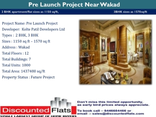 New Residential Pre Launch Project in Wakad Pune