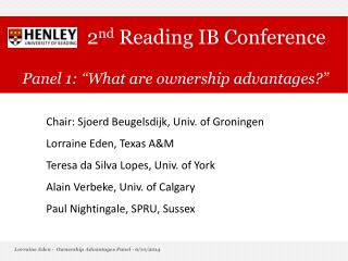 2nd Reading IB Conference