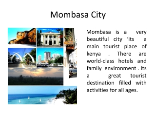 Mombasa Travel Guide