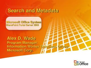 Microsoft Office System SharePoint Portal Server 2003