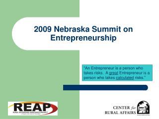 2009 Nebraska Summit on Entrepreneurship