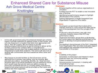 Enhanced Shared Care for Substance Misuse